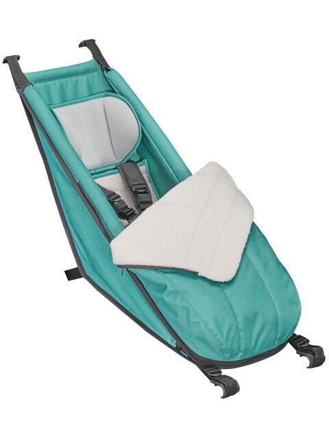 Croozer Babysitz inkl. Winter-Set für Kid Plus / Kid ab 2014 artic green